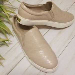 Aldo perine tan snake print slip on sneakers